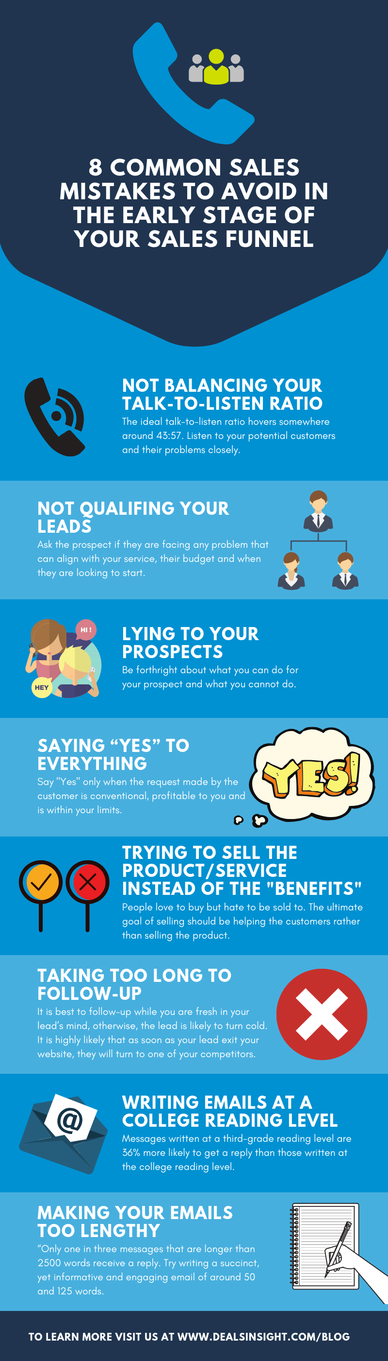 common sales mistakes infographics